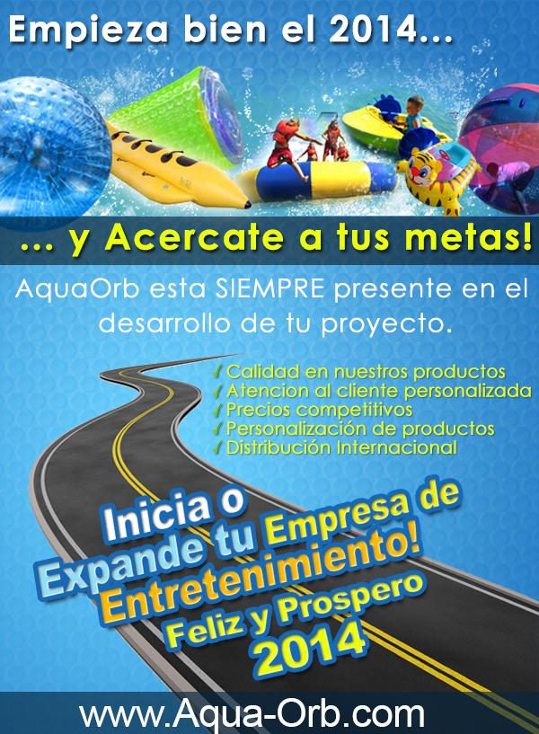 Comienza el 2014 con pie Derecho - Inflables Acuáticos AquaOrb es la mejor Manera!